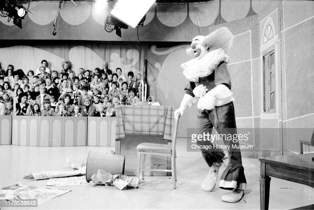 WGNTV studio during Bozo The Clown production Chicago Illinois October 30 1975
