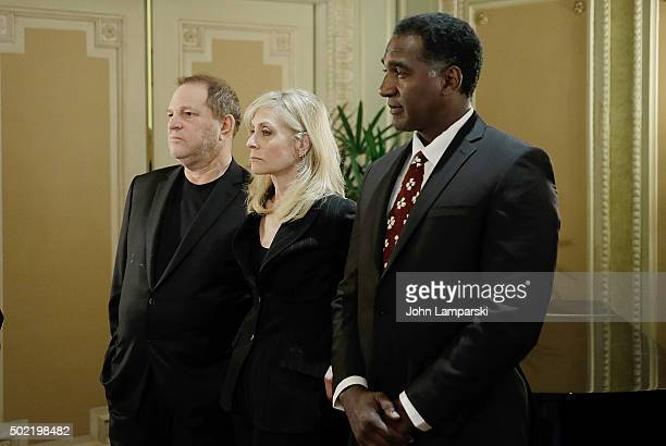Studio Executive Harvey Weinstein Judith Light and Norm Lewis are in attendance as US Senator Charles E Schumer commemorates last week's change in...