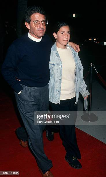 Studio executive Ron Meyer and daughter attending the premiere of 'GeronimoAn American Legend' on December 2 1993 at the Academy Theater in Beverly...