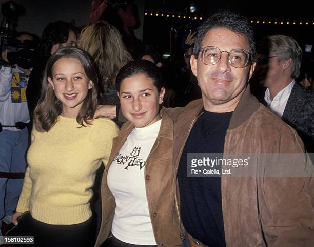 Studio executive Ron Meyer daughter and guest attending the screening of 'Disclosure' on November 28 1994 at Mann Bruin Theater in Westwood California