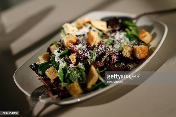 Studio Food Shoot––Caesar Salad with crunchy croutons from Pizzaavino