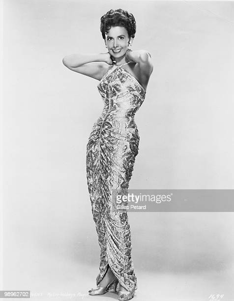 Studio full length portrait of actress and singer Lena Horne circa 1950