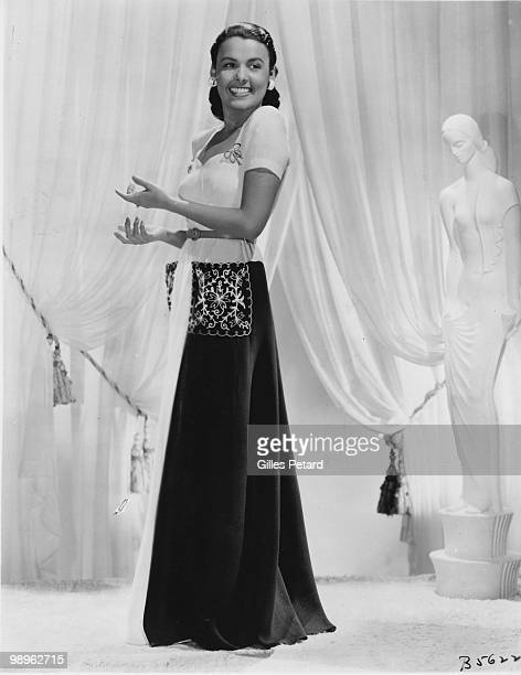 Studio full length portrait of actress and singer Lena Horne circa 1940