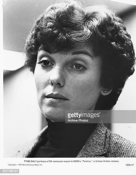 Studio headshot of actress Tyne Daly as she appears in the movie 'Telefon' 1977