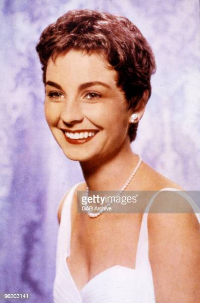 Studio headshot of English actress Jean Simmons taken in the late 1950's