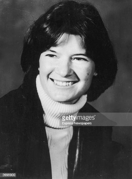 Studio headshot portrait of American astrophysicist and astronaut Sally Ride wearing a turtleneck sweater In 1983 Ride became the first American...