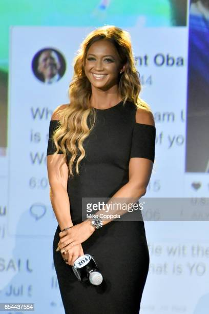 Studio Host Kate Adbo attends FOX Sports 2018 FIFA World Cup Celebration on September 26 2017 at ArtBeam in New York City