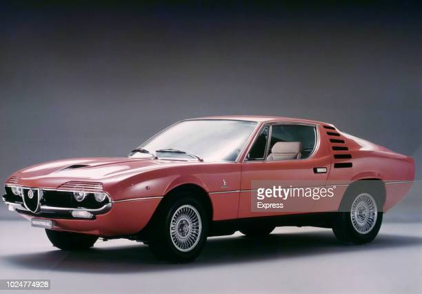 Studio image of an Alfa Romeo Montreal sports coupe car UK 15th October 1970