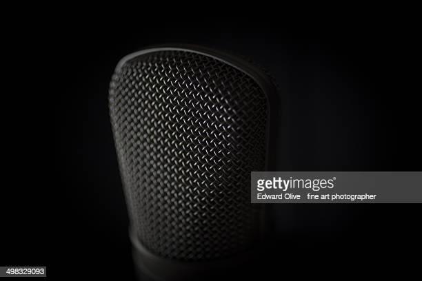 studio large diaphragm studio condenser microphone - メディア機材 ストックフォトと画像
