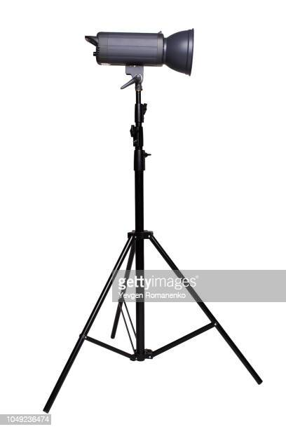 studio lighting isolated on white - tripod stock pictures, royalty-free photos & images