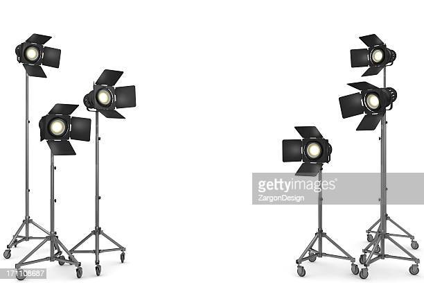 studio lighting - film studio stock pictures, royalty-free photos & images