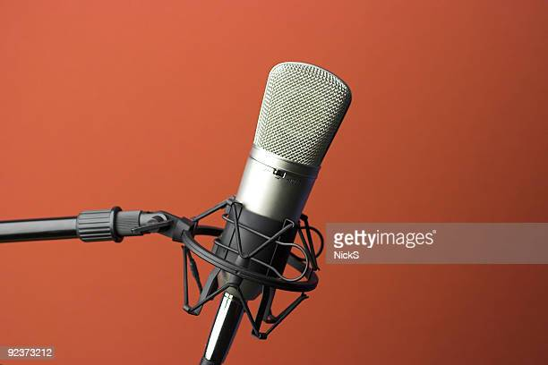 studio microphone - radio stock pictures, royalty-free photos & images