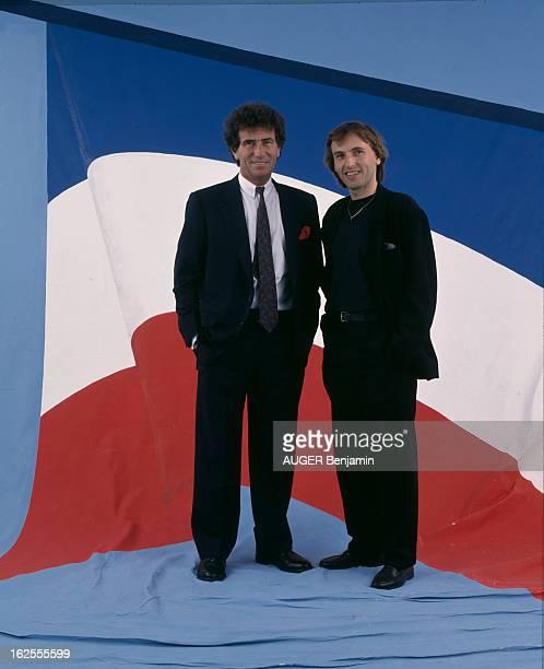 Studio Of Guests Of The Garden Party Of The Elysee En France le 14 juillet 1988 à l'occasion de la garden party au Palais de l'Elysée les...