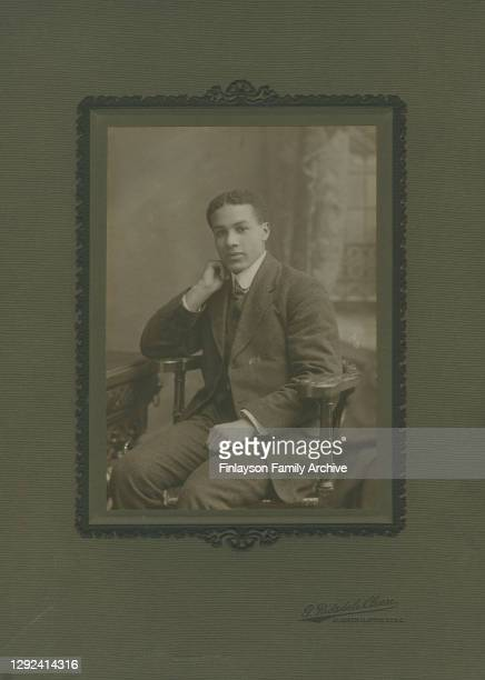 Studio photo of footballer Walter Tull in a suit was taken in London, probably between 1908 and 1911, when he was living in London.