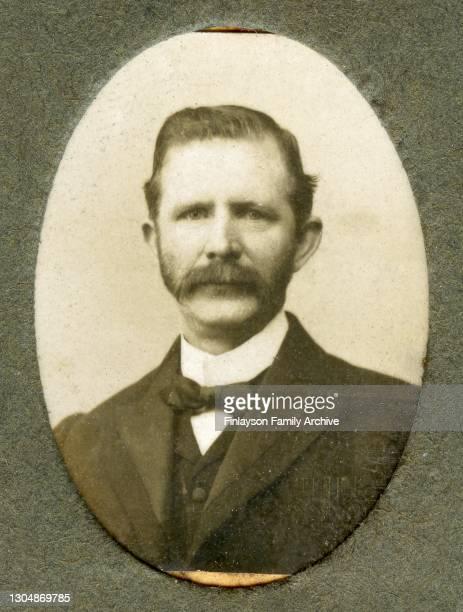 Studio photo of Scottish dentist James Warnock, the adoptive father of Edward Tull Warnock, UK, circa 1900.