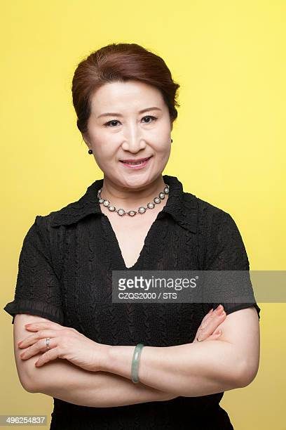 studio photo of senior businesswoman