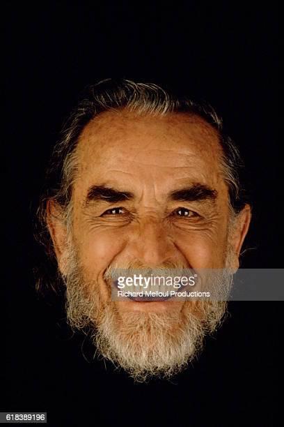 Studio photo of Vittorio Gassman smiling