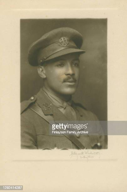 Studio photo of Walter Tull as an officer, taken in Folkestone, probably in the spring of 1917. Walter Tull is believed to be one of the first black...