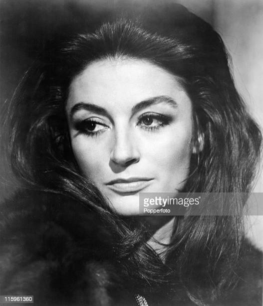 """Studio photograph of French film actress Anouk Aimee in the movie """"Justine"""", circa 1969. ."""