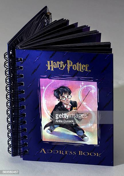 studio photos of items from the 99 cents store Harry Potter address book
