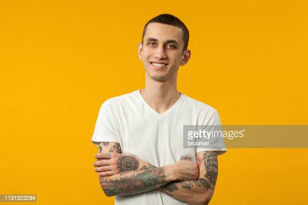 studio portrait of a 20 year old man - 20 24 years stock pictures, royalty-free photos & images