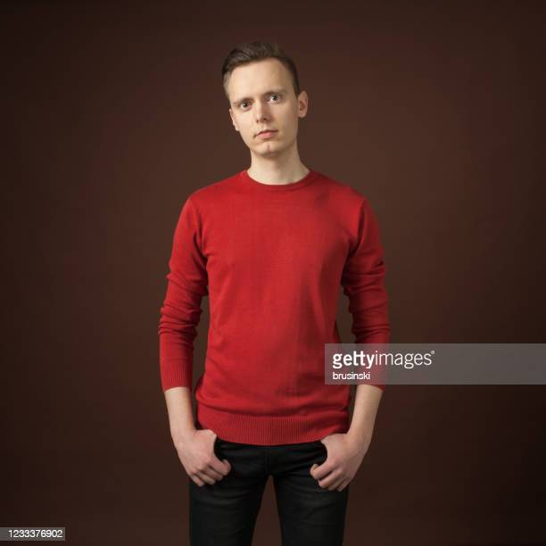 studio portrait of a 24 year old man - sloppy joe, jr stock pictures, royalty-free photos & images