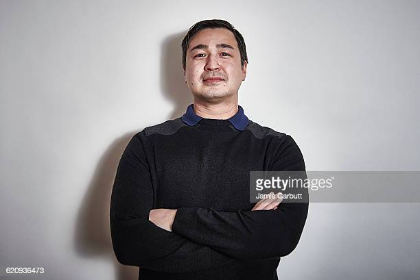 Studio Portrait of a early 30's mixed race male