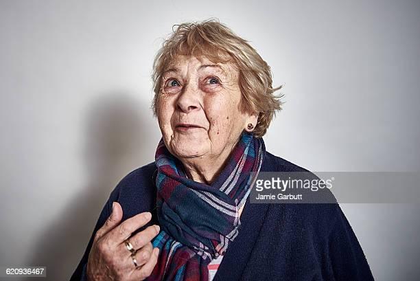 studio portrait of a elderly women - senior women stock pictures, royalty-free photos & images