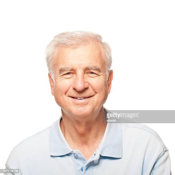 Studio Portrait of a smiling Senior Man