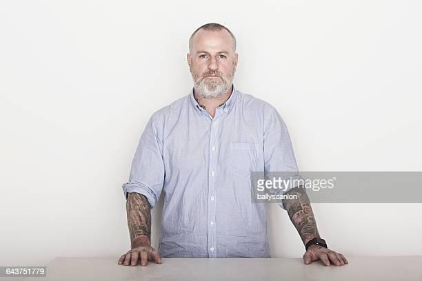 Studio Portrait Of A White Male.