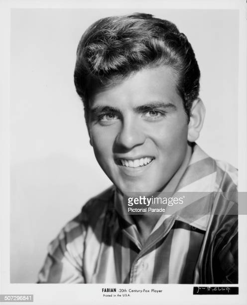 Studio portrait of actor Fabian Forte with 20th Century Fox circa 1960