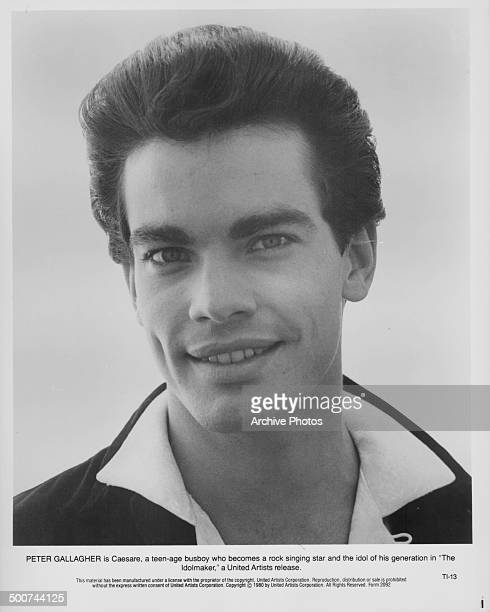 Studio portrait of actor Peter Gallagher as he appears in the movie 'The Idolmaker' 1980