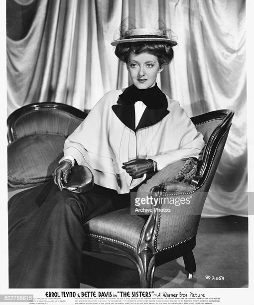 Studio portrait of actress Bette Davis wearing period costume as she appears in the movie 'The Sisters' 1938