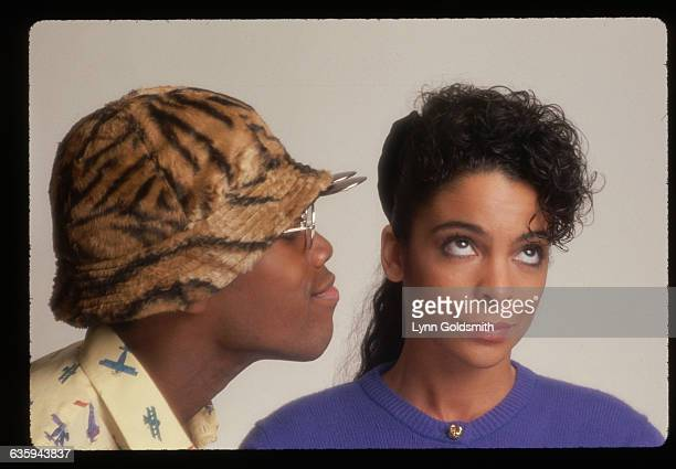Studio portrait of actress Jasmine Guy and actor Kadeem Hardison costars of A Different World television show Aired 19871993