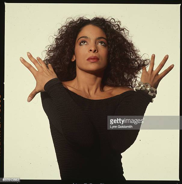 Studio portrait of actress Jasmine Guy