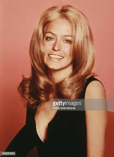 Studio portrait of American actress and model Farrah Fawcett, 1970s.