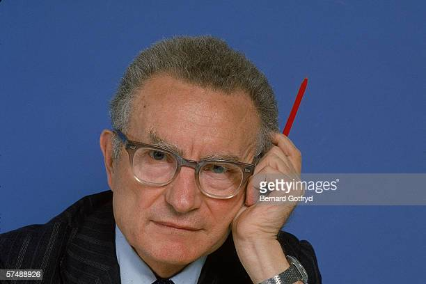 Studio portrait of American economist Paul A. Samuelson, a professor of economics at the Massachusetts Institute of Technology, who received the 1970...