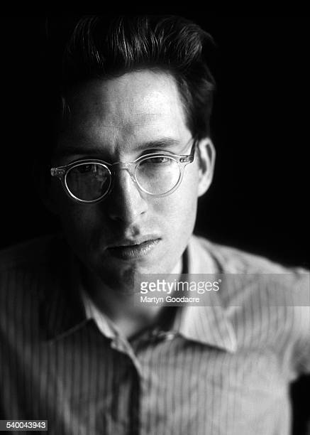 Studio portrait of American film director and screenwriter Wes Anderson London 1998