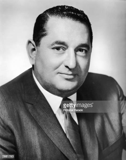 Studio portrait of American film producer Joseph E Levine president of Embassy Pictures circa 1962