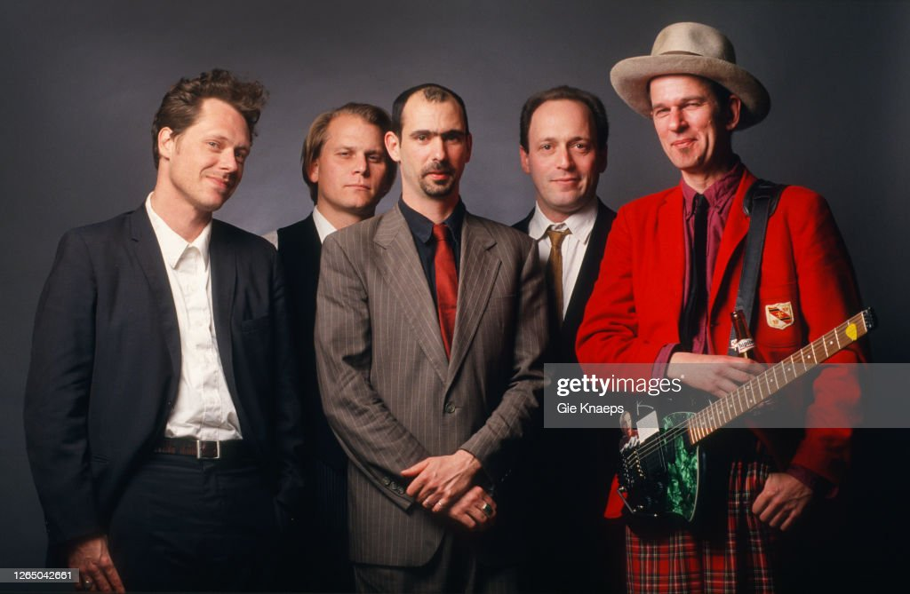 Studio portrait of American Music Club, Mark Eitzel, Vudi , Dan ...