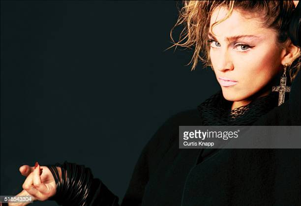 Studio portrait of American musician and actress Madonna New York New York September 1983