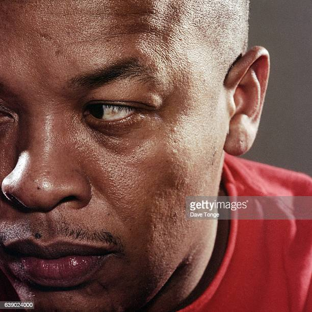 Studio portrait of American rapper and Record producer Dr Dre Los Angeles USA 2000