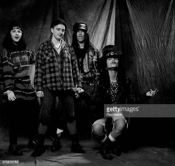 Studio portrait of American Rock group Four Non Blondes Chicago Illinois March 3 1993 Pictured are from left Dawn Richardson Christa Hillhouse Roger...