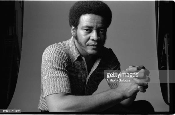 Studio portrait of American Soul and R&B musician Bill Withers , New York, New York, 1971.