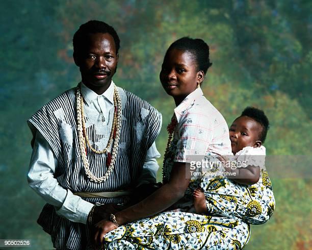 Studio portrait of an unidentified Ghanian family 1988