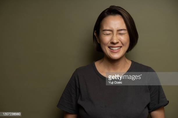studio portrait of asian young adult woman - japan stock pictures, royalty-free photos & images