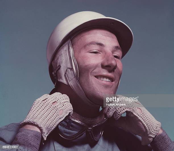 Studio portrait of British racing driver Stirling Moss circa 1955