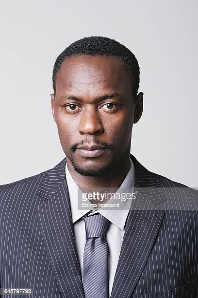 Studio portrait of business man