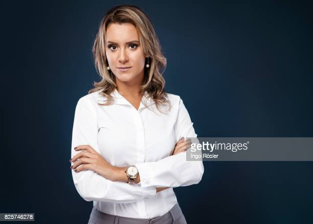Studio portrait of business woman