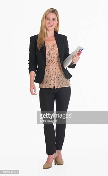 Studio portrait of businesswoman